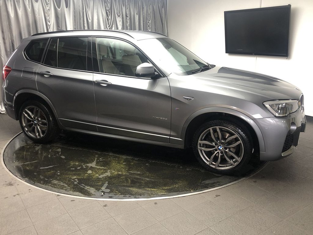 USED 2014 14 BMW X3 2.0 XDRIVE20D M SPORT 5d 188 BHP FREE UK DELIVERY, AUTOMATIC HEADLIGHTS, AUTOMATIC TAILGATE OPERATION, BLUETOOTH AUDIO STREAMING, BLUETOOTH TELEPHONE CONNECTIVITY, CLIMATE CONTROL, CRUISE CONTROL, DAB RADIO, DRIVE PERFORMANCE CONTROL, ELECTRONIC PARKING BRAKE, HEATED SEATS, HILL DESCENT CONTROL, PARKING SENSORS FRONT & REAR, SATELLITE NAVIGATION, STEERING WHEEL CONTROLS, TRIP COMPUTER