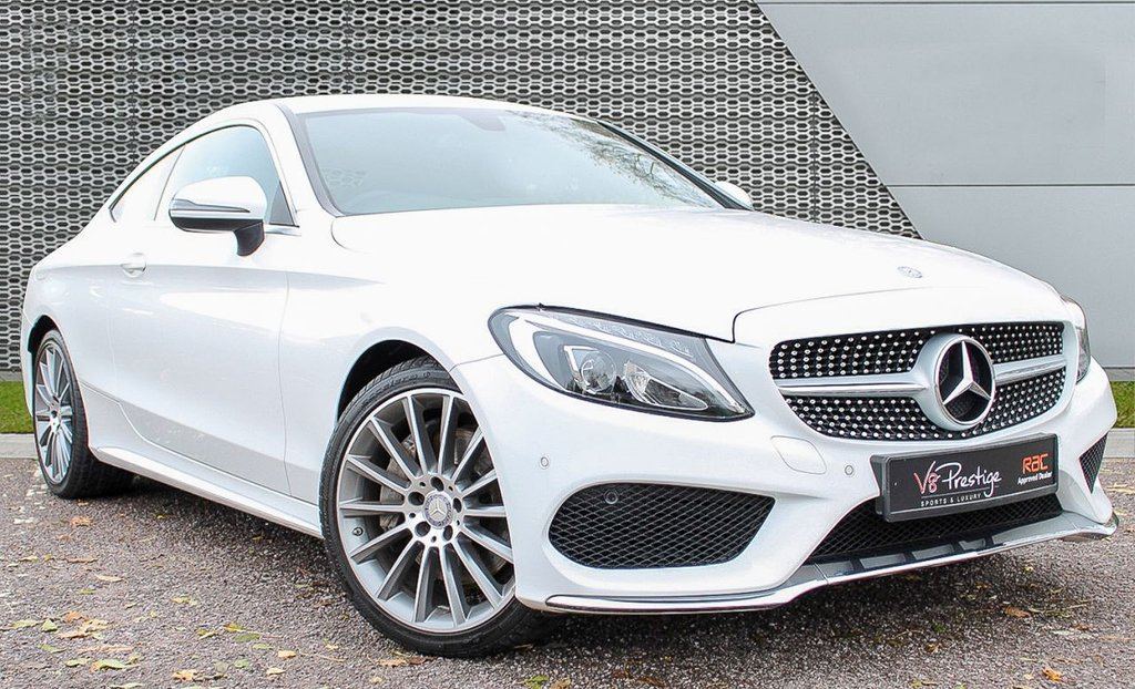 "USED 2016 16 MERCEDES-BENZ C-CLASS 2.0 C 200 AMG LINE 2d 181 BHP **19"" ALLOYS/CAMERA/BLACK LEATHER**"