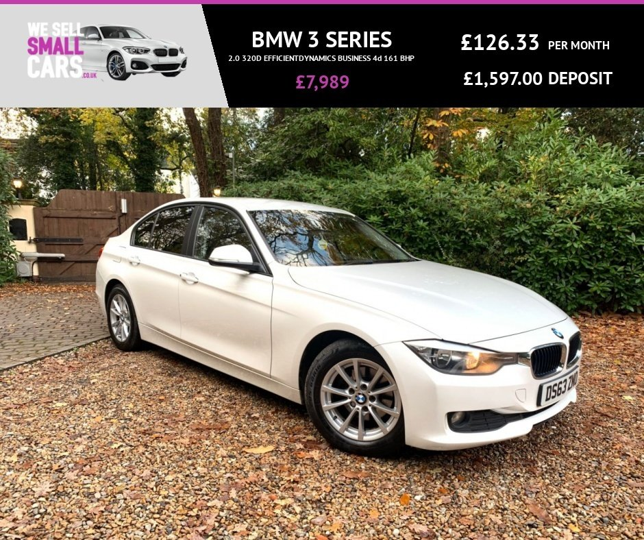 USED 2014 63 BMW 3 SERIES 2.0 320D EFFICIENTDYNAMICS BUSINESS 4d 161 BHP 2 OWNERS FULL SERVICE SAT NAV FULL HEATED LEATHER CRUISE CLIMATE