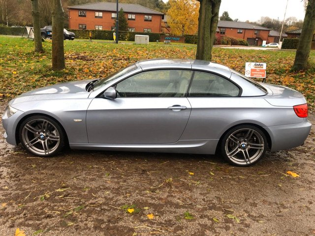 USED 2011 11 BMW 3 SERIES 3.0 325I M SPORT 2d 215 BHP CONVERTIBLE SERVICE HISTORY , FULL LEATHER INTERIOR , SAT NAV , CRUISE CONTROL ,