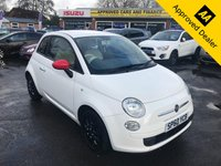 2010 FIAT 500 1.2 POP 3d 69 BHP IN WHITE WITH ONLY 35400 MILES, FULL SERVICE HISTORY, GREAT SPEC AND AN IDEAL FIRST CAR  £3699.00