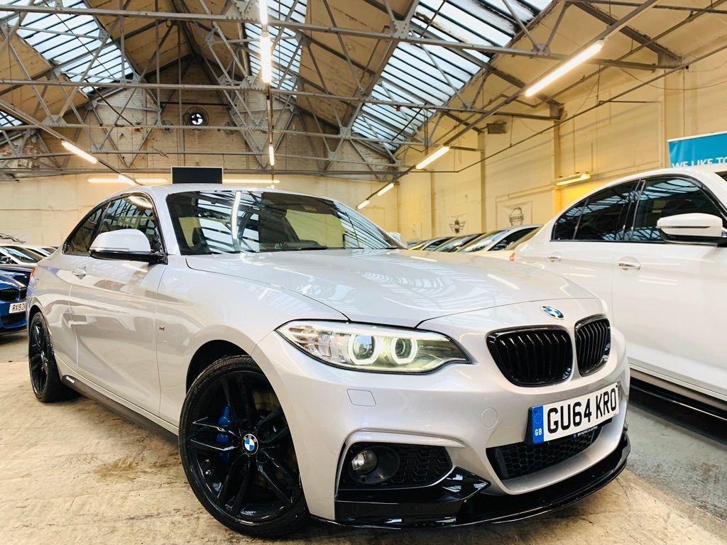 USED 2014 64 BMW 2 SERIES 2.0 220d M Sport Auto (s/s) 2dr PERFORMANCE-KIT+HTDLTHR+HK+FSH