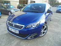 USED 2015 PEUGEOT 308 1.6 BLUE HDI S/S GT LINE 5d 120 BHP Excellent Condition, FSH, One Owner, Low Rate Finance Available, No Deposit, No Fees