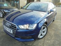 USED 2015 64 AUDI A3 1.4 TFSI SPORT 4d 148 BHP Excellent Condition, One Owner, FSH, Low Mileage, No Fee Finance Available, Part Ex Welcomed