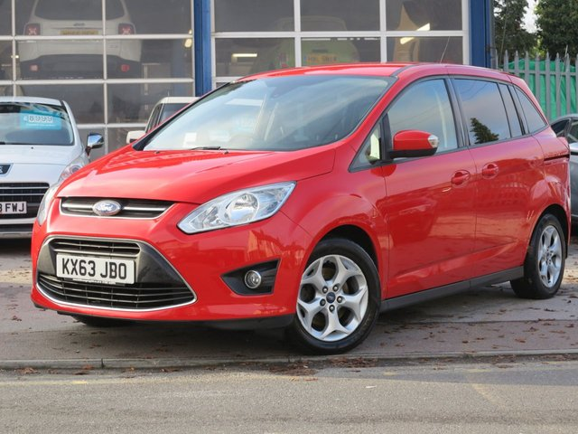 USED 2013 63 FORD GRAND C-MAX 1.6 ZETEC TDCI 5d 114 BHP DAB RADIO, BLUETOOTH, 2 KEYS
