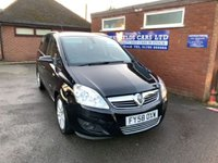 USED 2008 58 VAUXHALL ZAFIRA 1.9 DESIGN CDTI 16V 5d 150 BHP DIESEL, 7 SEATER SEATS, 91K MILES, PREVIOUSLY SUPPLIED BY US