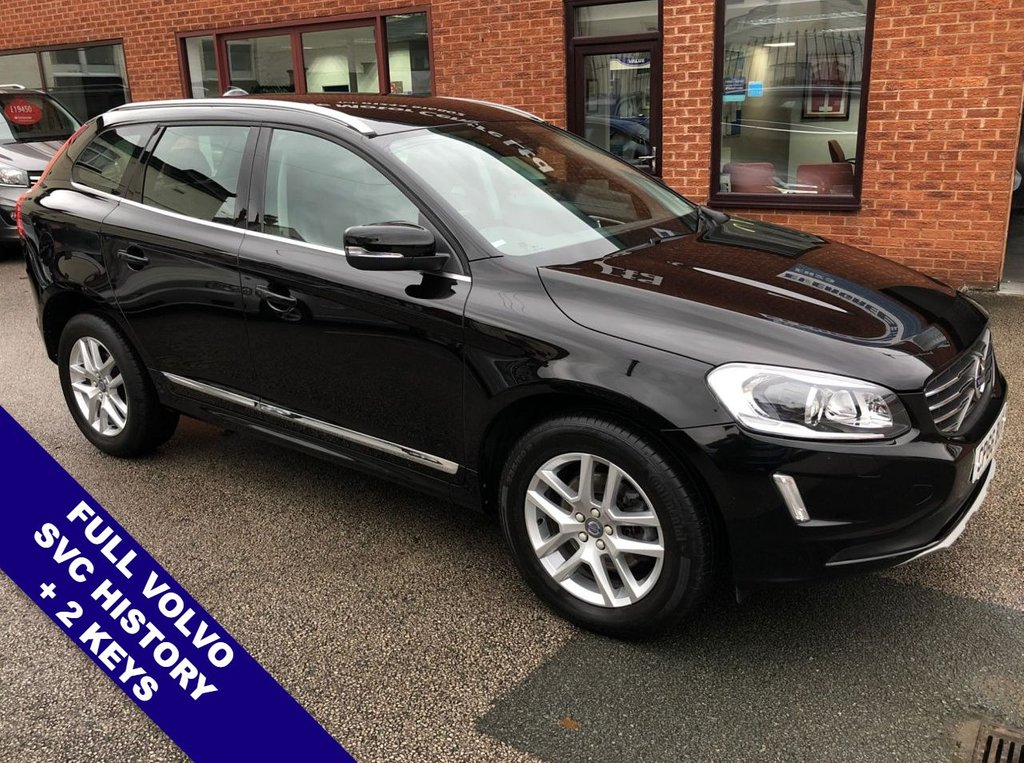 """USED 2016 66 VOLVO XC60 2.0 D4 SE LUX NAV 5DOOR 188 BHP ONLY £30 Road Tax   :   DAB   :   Satellite Navigation   :   USB & AUX   :   Car Hotspot / WiFi      Cruise Control   :   Phone Bluetooth Connectivity   :   Climate Control / Air Conditioning      Black Leather Upholstery   :   Auto Tailgate   :   Rear Parking Sensors   :   18"""" Alloy Wheels      2 Keys   :   Full Volvo Service History"""