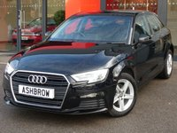 USED 2017 67 AUDI A3 SPORTBACK 1.0 TFSI SE 5d 115 S/S FULL AUDI SERVICE HISTORY, 1 OWNER FROM NEW, BALANCE OF MANUFACTURERS WARRANTY, REAR ACOUSTIC PARKING SENSORS, BI-XENON HEADLIGHTS WITH LED DAYTIME RUNNING LIGHTS & HEADLAMP WASHERS, CRUISE CONTROL, DAB RADIO, BLUETOOTH PHONE & AUDIO STREAMING, AUDI SMART PHONE INTERFACE FOR APPLE CAR PAY / ANDROID AUTO, USB PORTS x2, AUX INPUT, WIFI / WLAN PLAYER, SD CARD READER x2, AIR CONDITIONING, LEATHER MULTI FUNCTION STEERING WHEEL, AUTO LIGHTS & WIPERS, DIS TRIP COMPUTER WITH DIGITAL SPEED DISPLAY, TPMS
