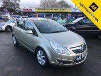 2008 VAUXHALL CORSA 1.4 DESIGN 16V 5d 90 BHP IN GOLD WITH ONLY 65000 MILES, GREAT SERVICE HISTORY AND A GREAT SPEC. THIS IS SOLD AS A TRADE CLEARANCE  £1999.00