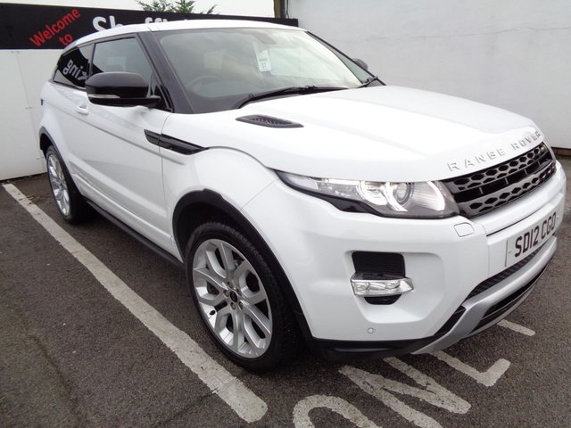 USED 2012 12 LAND ROVER RANGE ROVER EVOQUE 2.2 SD4 DYNAMIC 3d 190 BHP 4X4 AWD 4WD Satalite navigation DAB radio half leather rain sensors  privacy glass reverse assist xenon lights heated front seats bluetooth