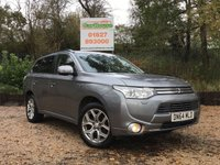 USED 2014 64 MITSUBISHI OUTLANDER 2.0 PHEV GX4H 4x4 Automatic 5dr Sat Nav, Camera, Leather