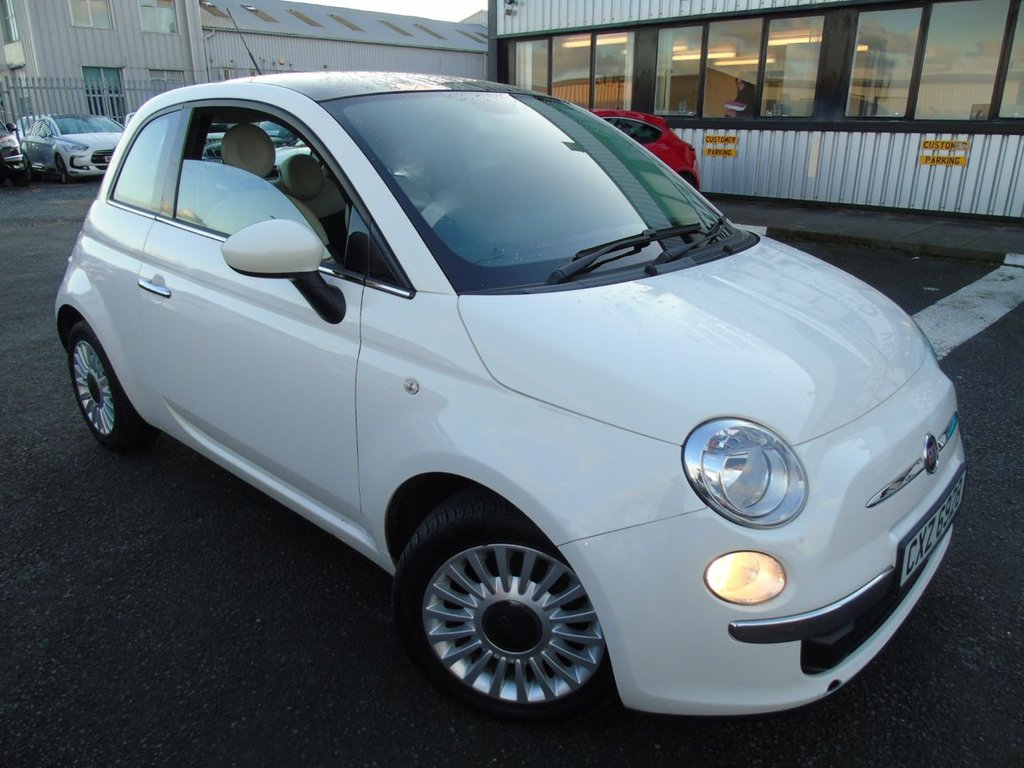USED 2012 FIAT 500 1.2 LOUNGE 3d 69 BHP £94 a month, T&Cs apply.