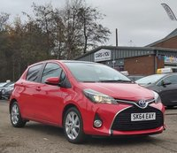 USED 2014 64 TOYOTA YARIS 1.5 HYBRID EXCEL 5d 73 BHP PANORAMIC SUNROOF +  PRIVACY GLASS +   1 OWNER FROM NEW +  CLIMATE CONTROL +  SERVICE RECORD +