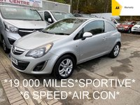 2014 VAUXHALL CORSA 1.2 SPORTIVE CDTI 94 BHP 6 SPEED*19,000 MILES*AIR CON*PARKING SENSORS* £4995.00
