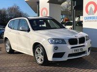 USED 2013 13 BMW X3 2.0 XDRIVE20D M SPORT 5d 181 BHP 5640.00 BMW OPTIONAL EXTRAS