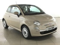 USED 2014 14 FIAT 500 1.2 LOUNGE 3d 69 BHP PART LEATHER | PAN ROOF |