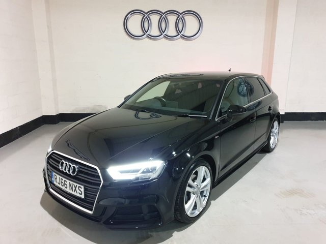 USED 2016 66 AUDI A3 1.6 TDI S LINE 5d 109 BHP NAV 1 Owner/Audi History/Sat-Nav/£20 Tax/Half Leather Seats