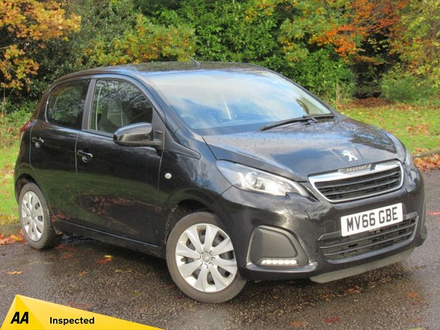 USED 2016 66 PEUGEOT 108 1.0 ACTIVE 5d 68 BHP FULL TOUCH SCREEN MEDIA WITH APPLE PLAY