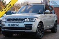 USED 2013 63 LAND ROVER RANGE ROVER 3.0 TDV6 VOGUE SE 5d 258 BHP ELECTRIC TOWBAR, PANORAMIC ROOF, MASSAGE SEATS, HEATED AND COOLED SEATS