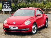 USED 2014 VOLKSWAGEN BEETLE 1.6 DESIGN TDI BLUEMOTION TECHNOLOGY 3d 104 BHP £30 road tax, Economical, FSH
