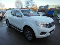 2016 NISSAN NP300 NAVARA 2.3 DCI TEKNA 4X4  EURO 6 190 BHP FULL BLACK LEATHER  ALLOYS, AIR CON, 360 DEGREE CAMERA TRUCKMAN TOP BOX SIDE STEPS ELECTRIC PACK FINANCE AVAILABLE  £12500.00
