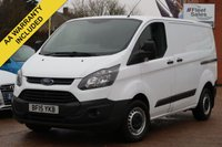 USED 2015 15 FORD TRANSIT CUSTOM 2.2 290 LR P/V 99 BHP NO VAT TO PAY VAT INCLUDED IN THE PRICE