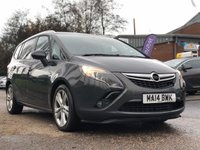 USED 2014 14 VAUXHALL ZAFIRA TOURER 2.0 SRI CDTI 5d 128 BHP PARKING AID +   2 KEEPERS +   CLIMATE CONTROL +  MOT JUNE 2020 *