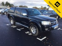 2008 FORD RANGER 3.0 THUNDER 4X4 LWB D/C 2d 156 BHP IN METALLIC BLACK WITH 138000 MILES , FULL SERVICE HISTORY AND A GREAT SPEC £4999.00