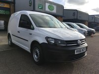 USED 2016 66 VOLKSWAGEN CADDY 1.6 C20 TDI STARTLINE 101 BHP EURO 6, ONLY 21,000 MILES, FINANCE ARRANGED & 6 MONTHS WARRANTY. ONLY 21,000 MILES, ULEZ Compliant (Euro 6), last Service carried out on the 16/01/2019 @ 16,228 miles, Bluetooth, E/W, DAB radio, Drivers airbag, Factory fitted bulk head, side loading door, ply lined, 1 Owner, remote Central Locking, Drivers Airbag, Steering Column Radio Control, Barn Rear Doors, spare key, finance arranged on site & 6 months premium Autogaurd warranty