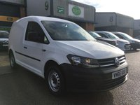 USED 2016 66 VOLKSWAGEN CADDY 1.6 C20 TDI STARTLINE 101 BHP EURO 6, FSH, DAB RADIO, E/W, FINANCE ARRANGED & 6 MONTHS WARRANTY. ULEZ Compliant (Euro 6), Full service history - 3 Services - last Service carried out on the 16/07/2019 @ 60,275 miles (Long life oil used), Bluetooth, E/W, DAB radio, Drivers airbag, Factory fitted bulk head, side loading door, ply lined, 1 Owner, remote Central Locking, Drivers Airbag, Steering Column Radio Control, Barn Rear Doors, spare key, finance arranged on site & 6 months premium Autogaurd warranty