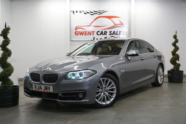 USED 2014 14 BMW 5 SERIES 2.0 520D LUXURY 4d 181 BHP DRIVES AMAZING, HIGH SPEC, LONG MOT