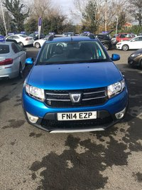 2014 DACIA SANDERO 1.5 STEPWAY LAUREATE DCI 5d 90 BHP IN METALLIC BLUE WITH FULL SERVICE HISTORY, 1 OWNER AND A GREAT SPEC INCLUDING SAT NAV £4999.00