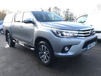 USED 2016 66 TOYOTA HI-LUX INVINCIBLE D-4D 4WD AUTO 150 BHP WITH TOP ** LOW MILEAGE**