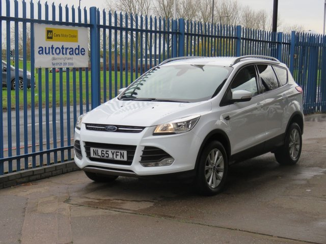 USED 2015 65 FORD KUGA 2.0 TITANIUM TDCI 1/2 Leather DAB Park sensors Cruise ULEZ COMPLIANT Ulez compliant 4x4 Diesel,Low Miles with Service History,180 bhp