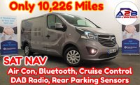 2016 VAUXHALL VIVARO 1.6 SPORTIVE CDTI BI-TURBO 125 BHP EURO 6 with VERY LOW MILEAGE 10,226 Miles, in Metallic Grey with SATNAV, Air Conditioning, Cruise Control, Bluetooth, DAB Radio, Rear Parking Sensors and more £12480.00