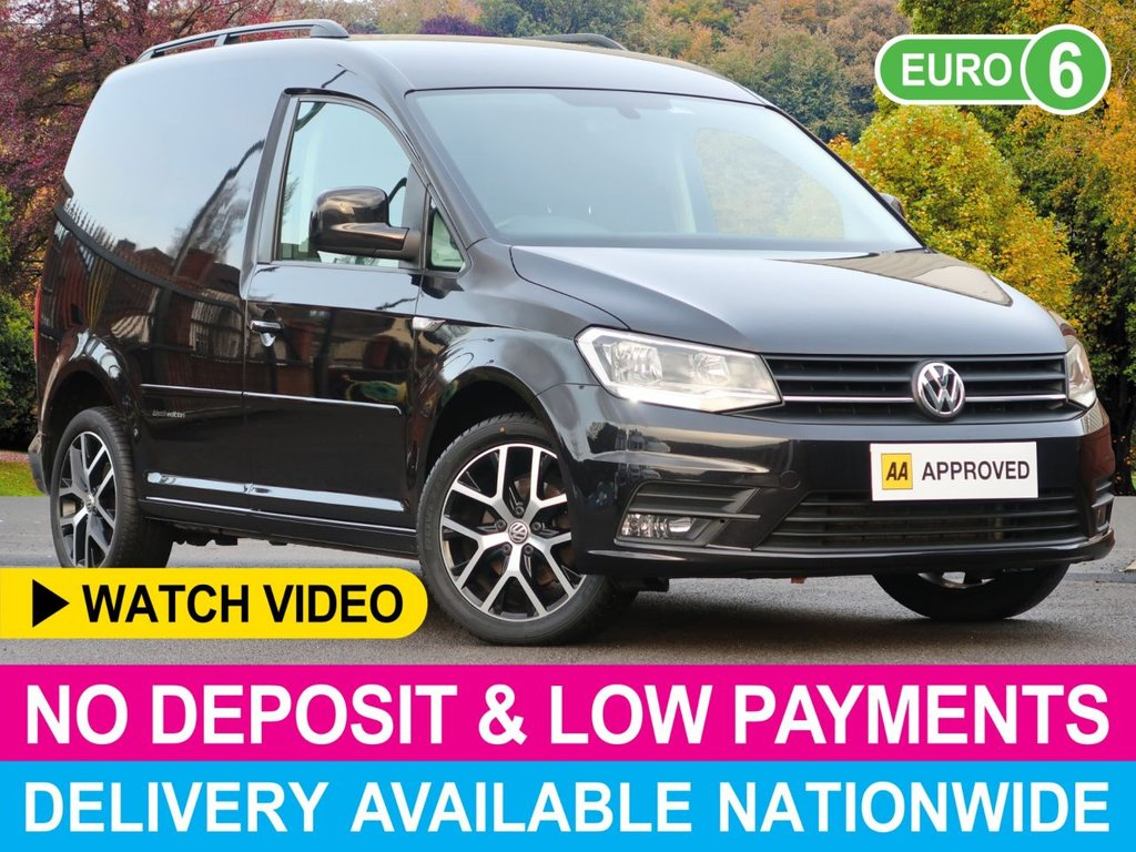 USED 2017 17 VOLKSWAGEN CADDY 2.0 TDI BLACK EDITION BLUEMOTION TECH C20 VAN LEATHER AIR CON CRUISE ALLOYS