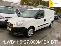 2013 FIAT DOBLO LWB 1.6 16V MULTIJET 105 BHP 6 Speed **27,000 Miles*EX BT*TWIN SIDE DOORS* £4995.00