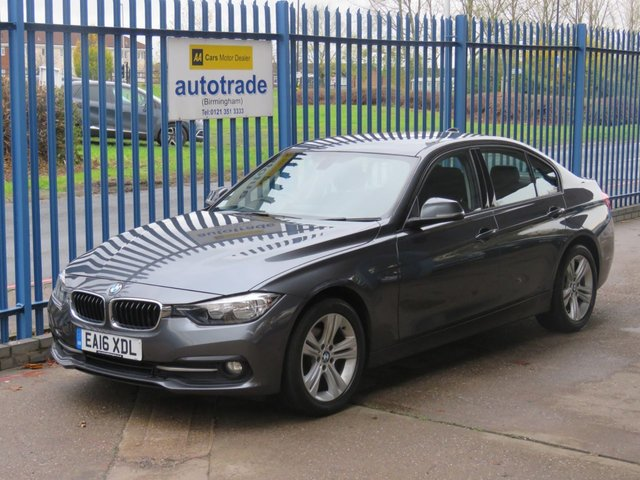 USED 2016 16 BMW 3 SERIES 2.0 318D SPORT 4dr Sat nav Bluetooth & audio ULEZ COMPLIANT Ulez compliant £30 Tax-Great Fuel Economy-Colour Sat Nav