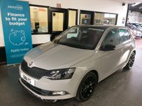 """USED 2016 66 SKODA FABIA 1.2 MONTE CARLO TSI 5d 109 BHP This Fabia Monte Carlo is finished in Special Meteor Grey with Panoramic roof, red grey and black cloth trim and 17"""" Black Alloy wheels.It is fitted with power steering, remote locking, electric windows and mirrors, Air Conditioning, adaptive cruise control, tinted rear glass, LED Daylights, rear parking sensors, Bluetooth, Start/Stop technology, Black 17"""" Alloy wheels, DAB CD Stereo with Aux & USB port and more. It has had one private owner from new and comes with a full Skoda service history."""