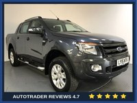 USED 2015 15 FORD RANGER 3.2 WILDTRAK 4X4 DCB TDCI 4d 197 BHP FORD HISTORY - SAT NAV - REAR SENSORS - CAMERA - AIR CON - BLUETOOTH - HALF LEATHER - ELECTRIC SEATS