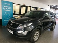 USED 2014 14 KIA SPORTAGE 1.6 BLACK EDITION ISG 5d 133 BHP This petrol powered low mileage 2WD Sportage Black Edition is finished in black with Black and grey heated part leather seats front and rear! It is fitted with KIA Navigation, rear camera, cruise & climate control, Bluetooth phone, LED day lights, rear park assist, auto lights, power folding mirrors, full size spare wheel, remote locking, electric windows, alloy wheels, USB AUX and more. It has had two private owners, the last lady since 2016 and has a KIA service history with receipts.