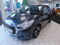 "USED 2016 66 DS DS 3 1.2 PURETECH CHIC 3d 80 BHP 1 OWNER + FULL SERVICE HISTORY + LONG MOT + 16"" ALLOYS + CRUISE CONTROL + AIR CONDITIONING + DAB RADIO + BLUETOOTH + CRUISE CONTROL + LOW MILES + LED DAYTIME RUNNING LIGHTS + PRIVACY GLASS +  ISOFIX + LOW INSURANCE GROUP"