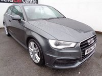USED 2015 64 AUDI A3 2.0 TDI S LINE 3d 148 BHP Full service history bluetooth half leather pop up screen stunning car and colour sline specification alloy wheels climate control  heated seats
