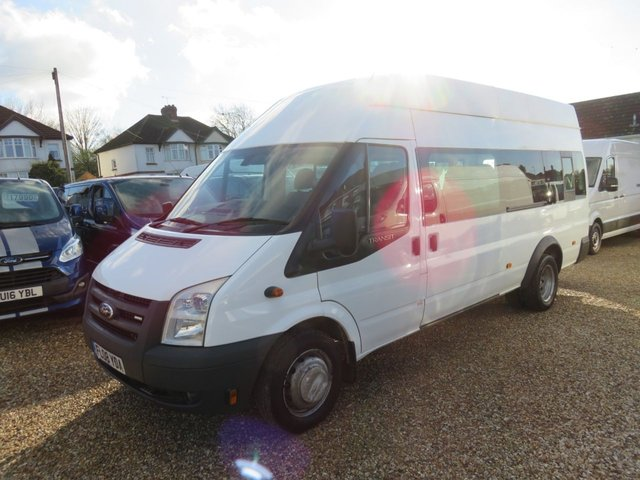 2008 08 FORD TRANSIT 2.4 TDCi 17 SEAT MINIBUS LWB HIGH ROOF 67792 Miles Only