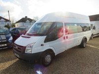 USED 2008 08 FORD TRANSIT 2.4 TDCi 17 SEAT MINIBUS LWB HIGH ROOF 67792 Miles Only
