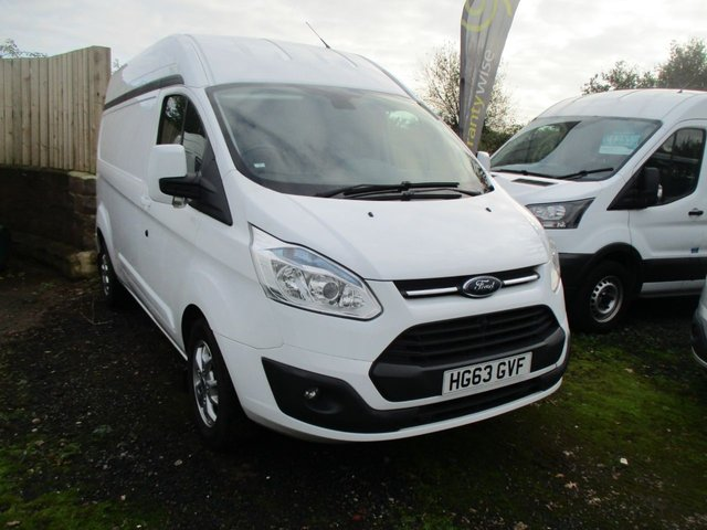 2014 63 FORD TRANSIT CUSTOM 2.2 290 LIMITED H/ROOF P/V 154 BHP L2 H3 Turbo diesel