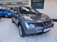 "USED 2014 14 NISSAN JUKE 1.5 TEKNA DCI 5d 109 BHP FULL SERVICE HISTORY + 12 MONTHS MOT + SATELLITE NAVIGATION + BLUETOOTH + 7"" TOUCH SCREEN + RADIO/CD PLAYER + FULL LEATHER TRIM + HEATED FRONT SEATS + ALLOYS + REMOTE CENTRAL LOCKING + PRIVACY GLASS + ISOFIX + ONLY £20 ROAD TAX"