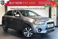 "USED 2015 15 MITSUBISHI ASX 1.8 DI-D 3 5DR 114 BHP full service history Finished in a stunning metallic grey styled with 17"" alloys Upon opening the drivers door you are presented with full black leather interior, full service history, bluetooth, cruise control, electric folding mirrors, USB port, air conditioning, parking sensors"