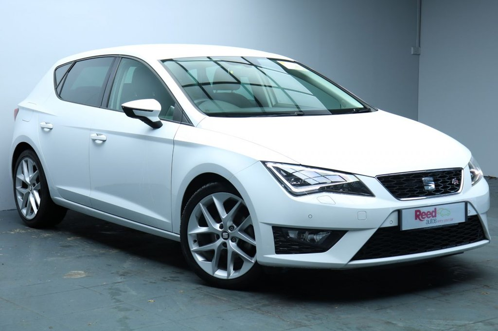 """USED 2016 16 SEAT LEON 2.0 TDI FR TECHNOLOGY 5d 150 BHP 1 OWNER+FULL SERVICE HISTORY+NAV+1/2 LEATHER+18""""ALLOYS+TECHNOLOGY PACK+WINTER PACK"""