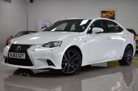 USED 2013 63 LEXUS IS 2.5 300H F SPORT 4d AUTO 220 BHP STUNNING HYBRID IS WITH GREAT HISTORY! MUST BE SEEN!